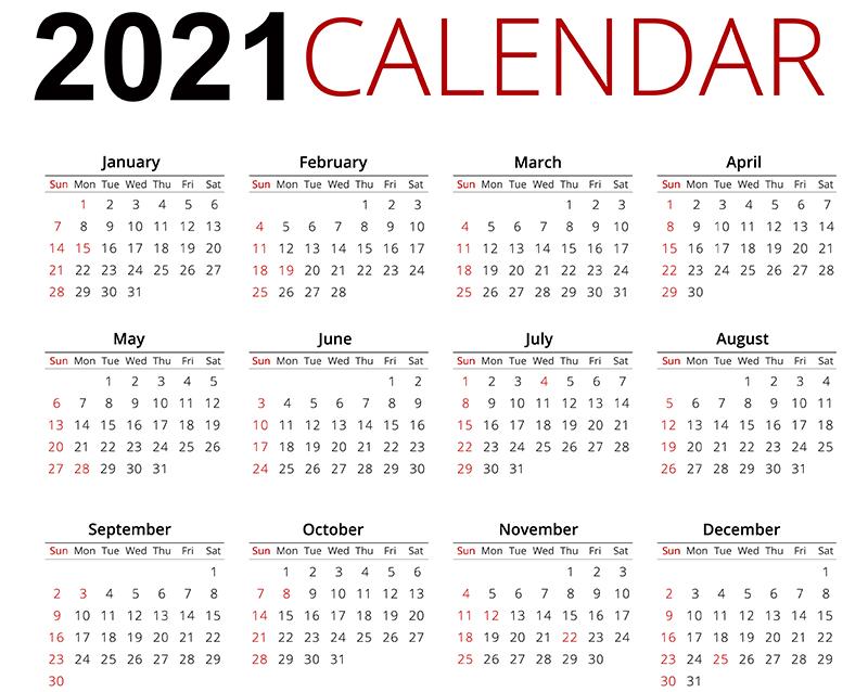 Start Your 2021 Calendar